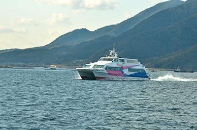 広島県江田島市高速船公設民営化開始